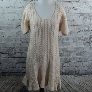 MODA Light Blush Cableknit Sweater Dress